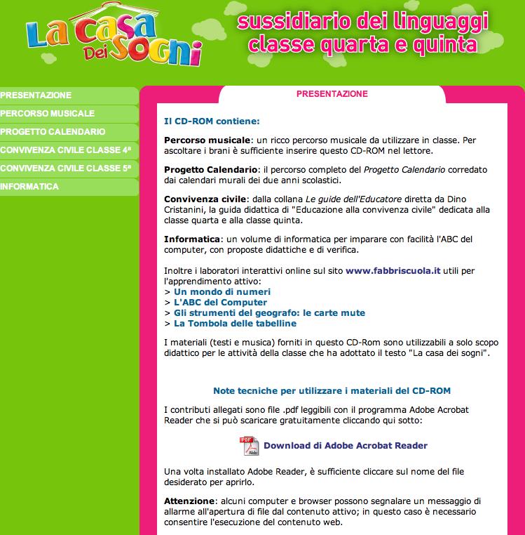 Cd rom for Sito web casa dei sogni